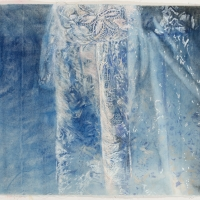 'dress' watercolour on canvas (ANU drawing Prize)