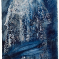 \'dress\' watercolour and gouache on canvas