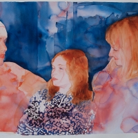 A portrait of Bella with her Mother and Aunt