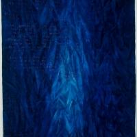 \'Curtain\' acrylic on canvas 213x170cm