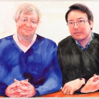 Portrait of Geoffrey Lancaster and Andrew Lu