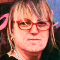 Portrait of woman from the left side (portrait of Pamella Clelland Gray)