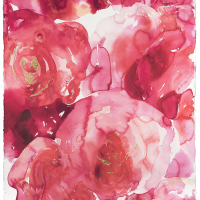Leeanne-Crisp_Double-Delight-from-the-Bed-of-Roses_Watercolour-and-Gold-Leaf-on-Arches-Paper_H154xW102_2021