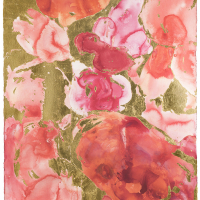 Leeanne-Crisp_Garden-of-Love-Bed-of-Roses-Series_Watercolour-and-gold-leaf-on-Arches-paper_154cmsH-x102cmsW_2018-2021